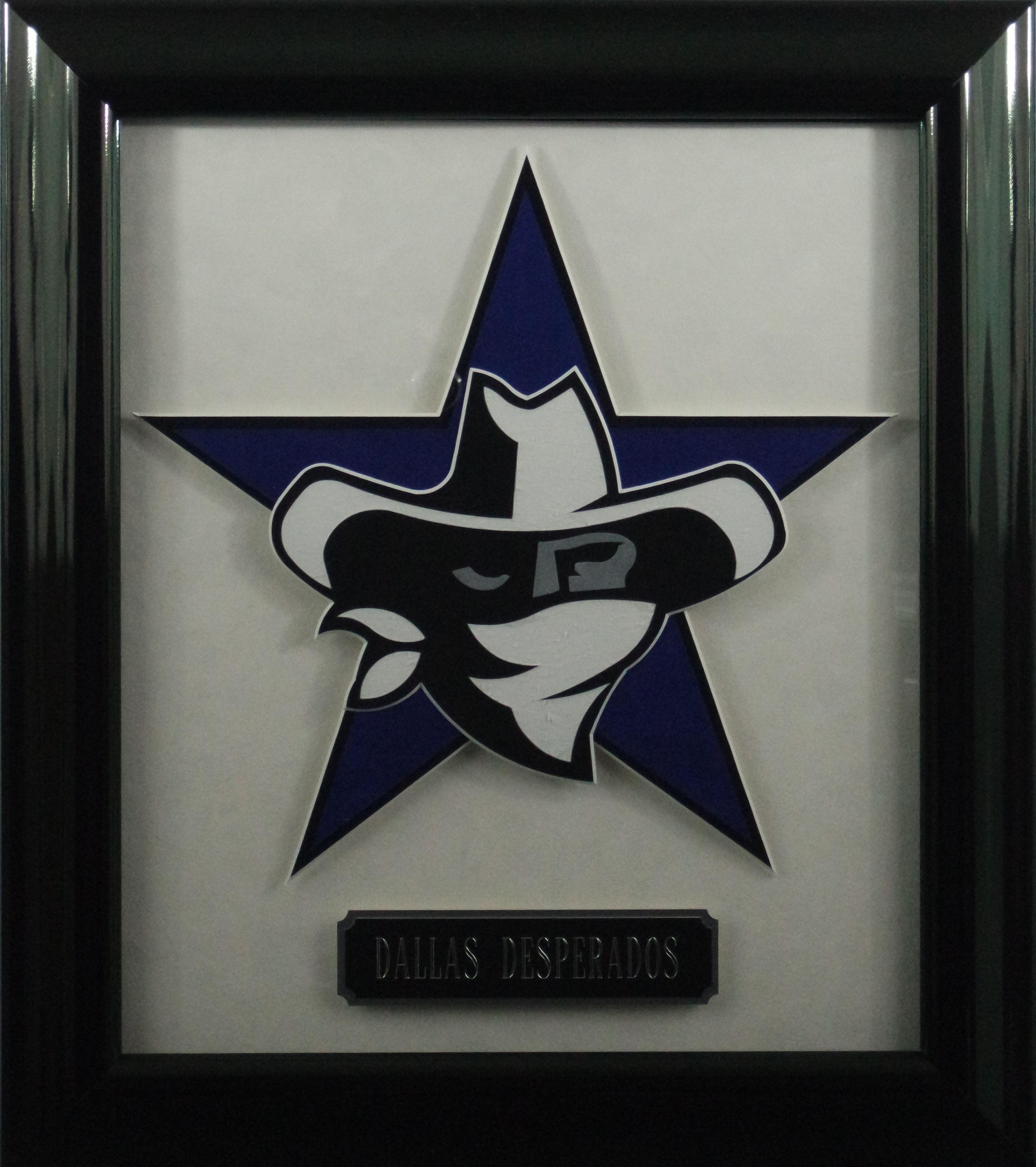 Dallas Desperados 3 Dimensional Hand Crafted Premium Logo Csd Memorabilia