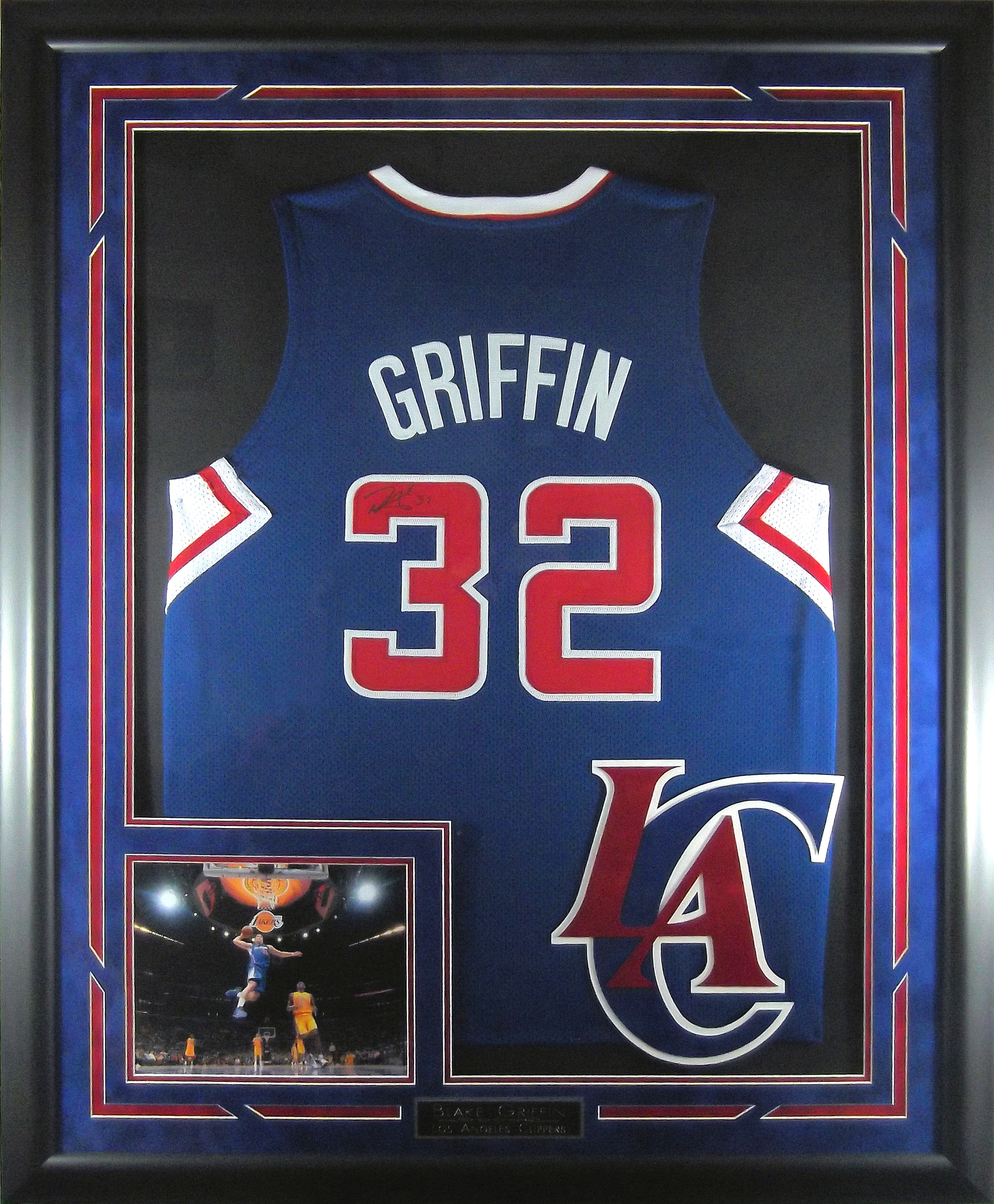 new style 96692 4bcfe Blake Griffin Autographed Los Angeles Clippers Jersey