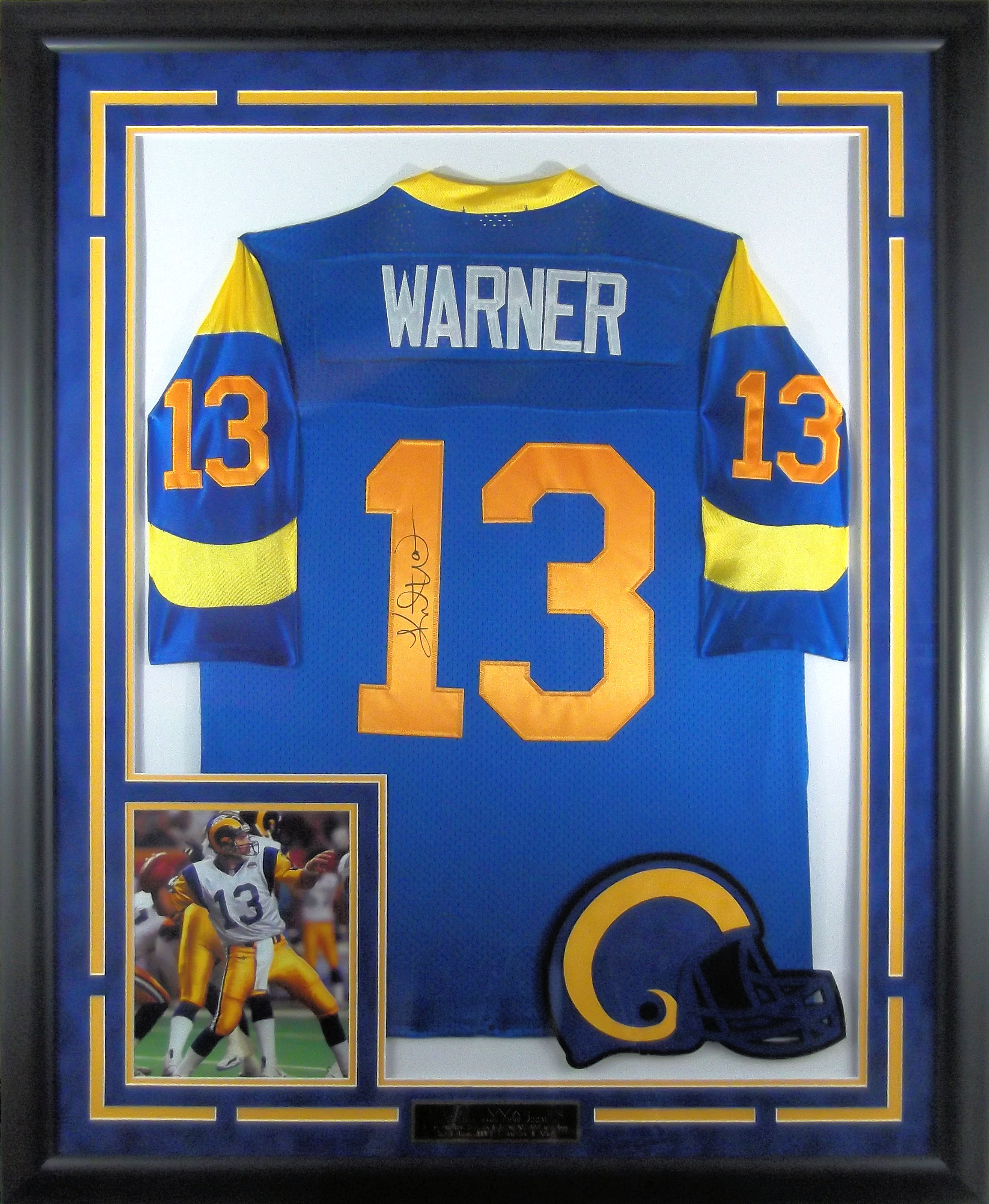 quality design 9e69f 199ef Kurt Warner Signed St. Louis Rams Throwback Jersey