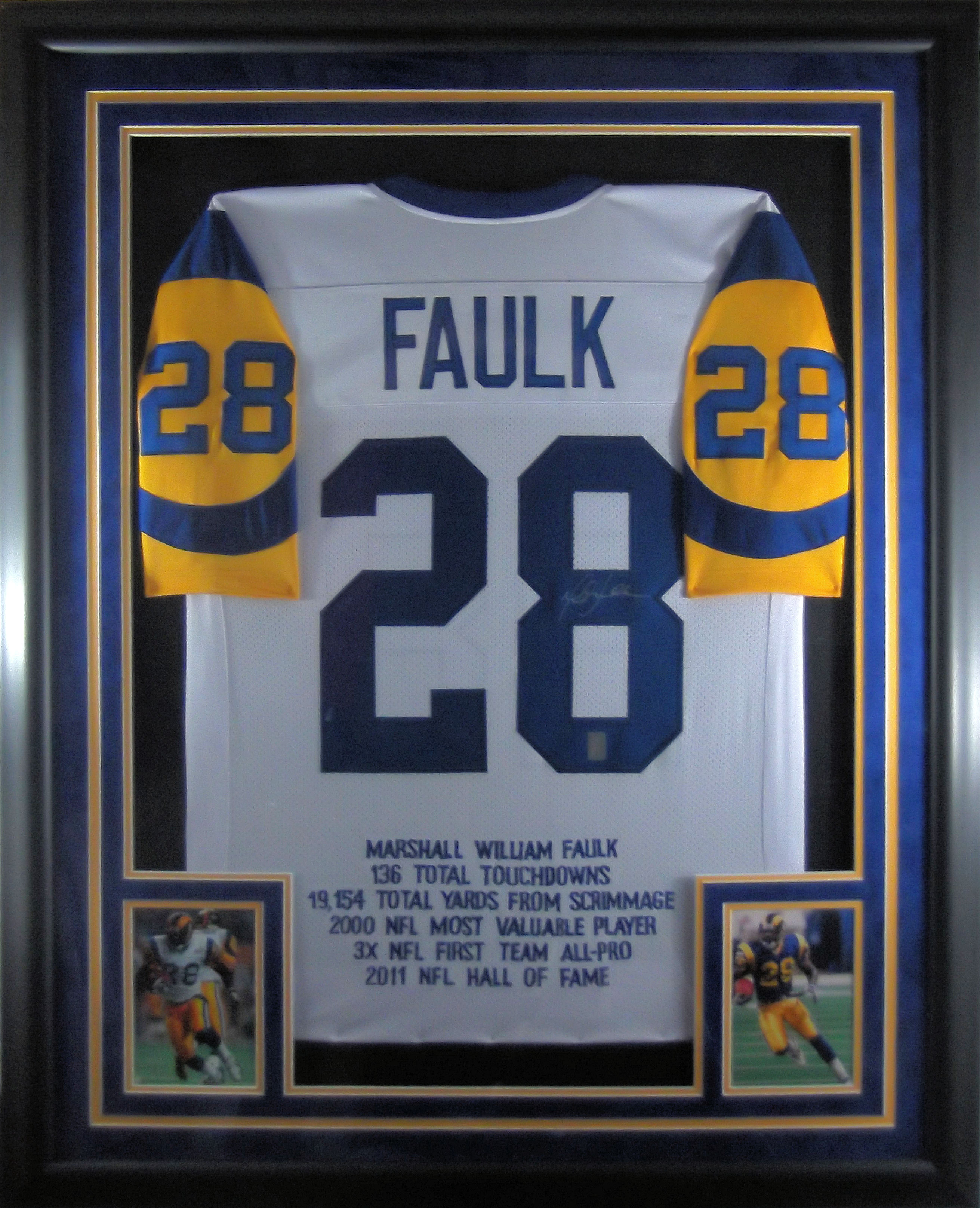 Marshall Faulk Autographed Rams Jersey  7782808fd