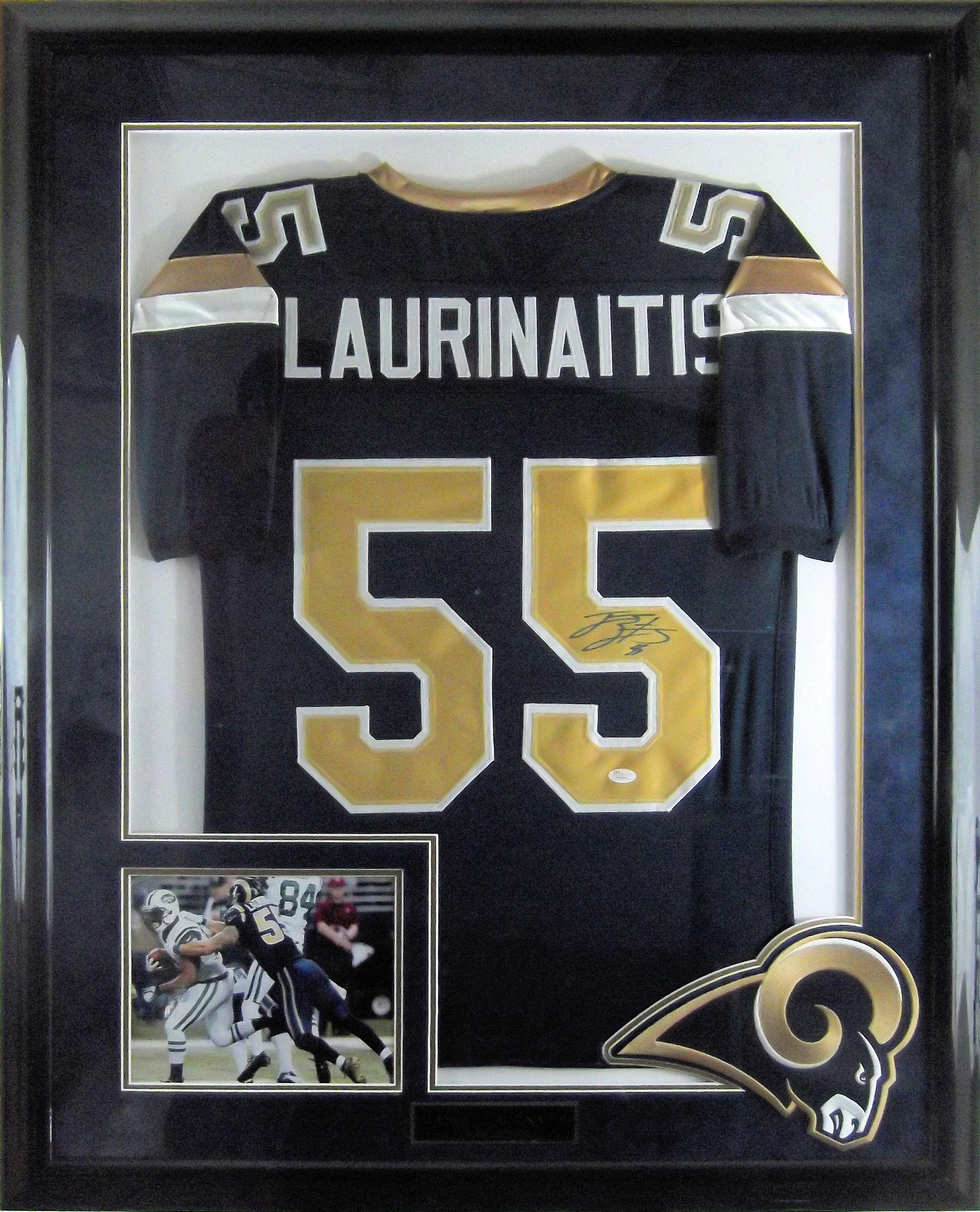 buy popular 98de9 68906 James Laurinaitis Autographed St. Louis Rams Jersey