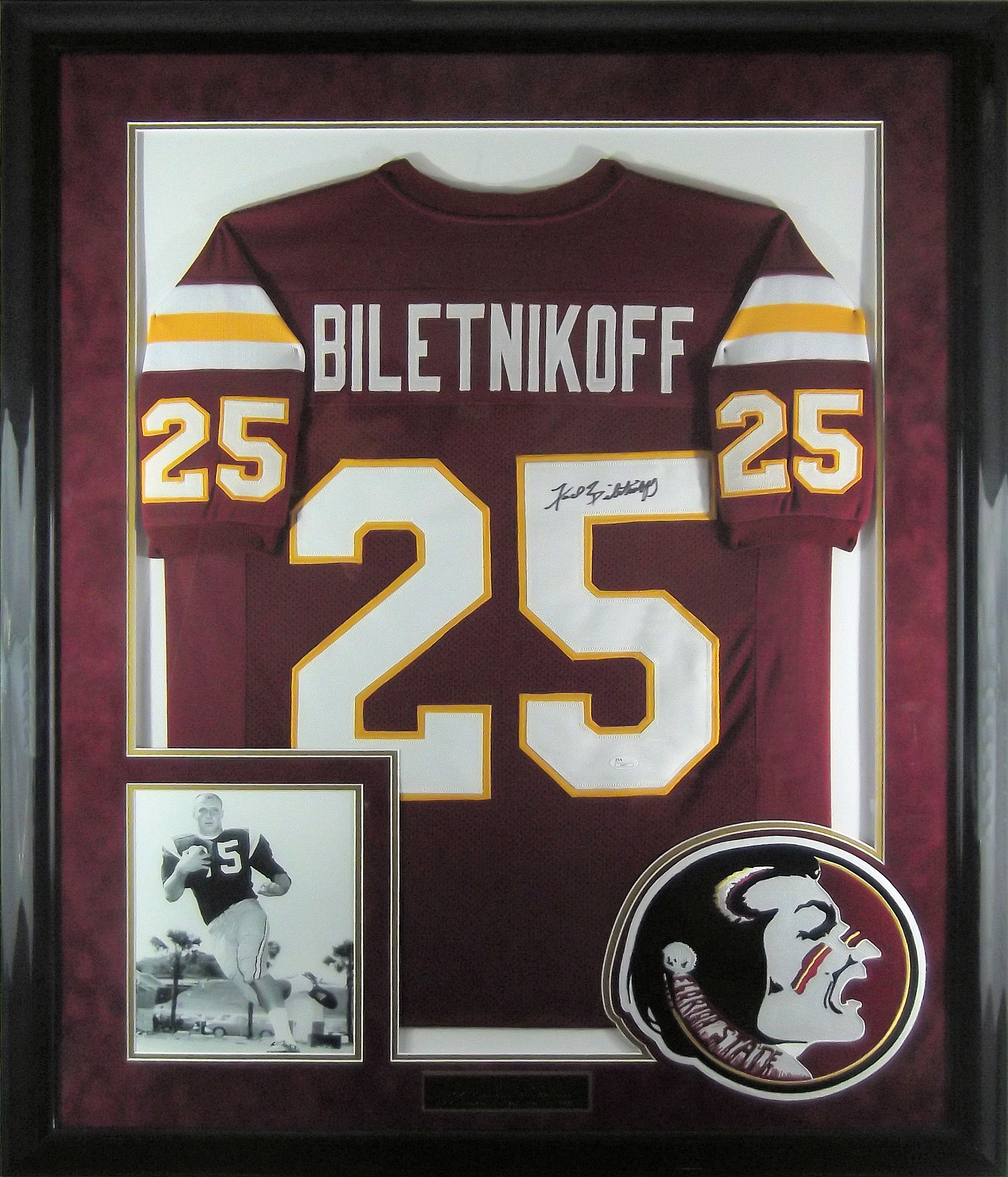 info for a258c f7910 Fred Biletnikoff Autographed Florida State Jersey